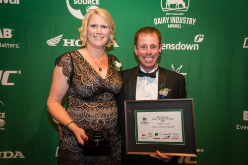 2017 Share Farmer of the Year Third Dion and Johanna Bishell