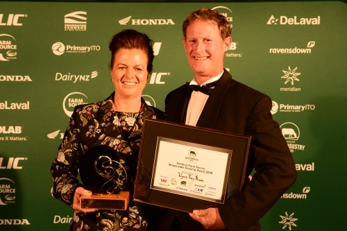 2018 NZDIA Responsible Dairying Award Wynn and Tracy Brown