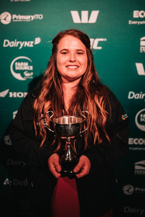 Auckland DIA Dairy Trainee of the Year Rebecca Casidy