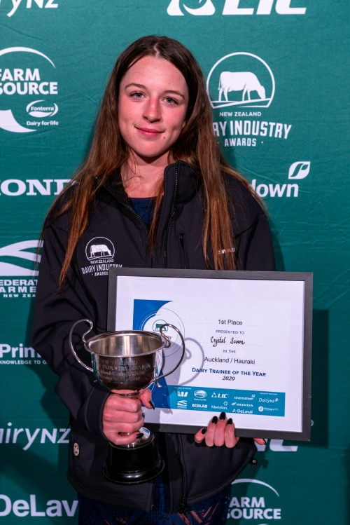 Auckland Hauraki Dairy Trainee of the Year Crystal Scown