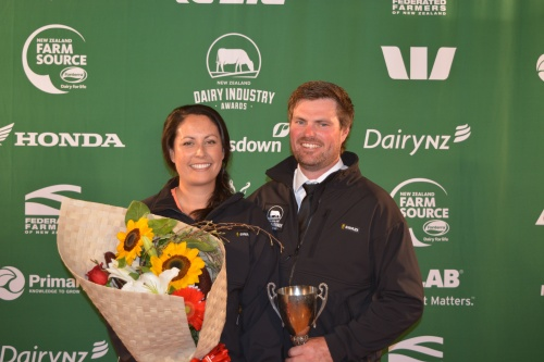 Auckland Hauraki Share Farmers of the Year Amber and Fraser Carpenter