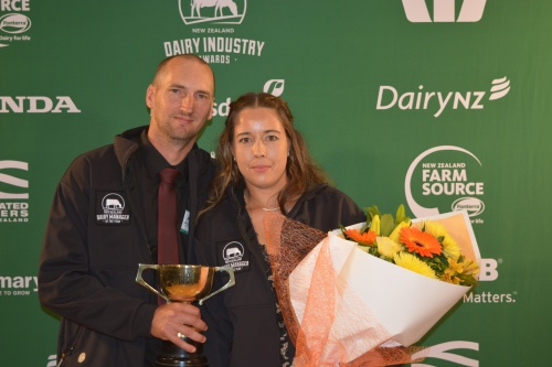 Bay of Plenty Dairy Managers of the Year Hayden and Linda McCartie