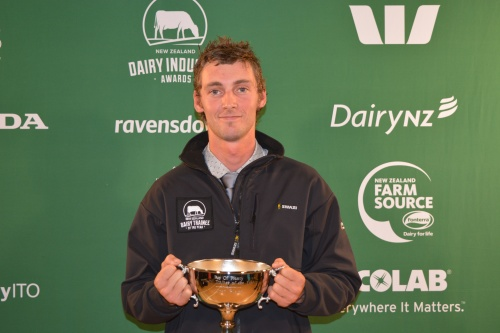 Bay of Plenty Dairy Trainee of the Year Hayden Goodall
