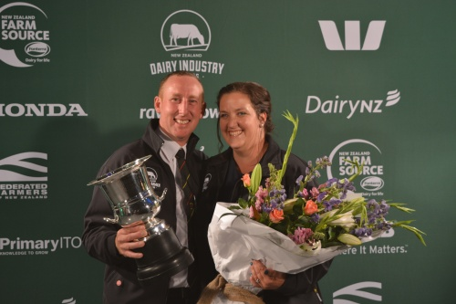 Canterbury North/Otago Share Farmers of the Year Christopher and Siobhan OMalley