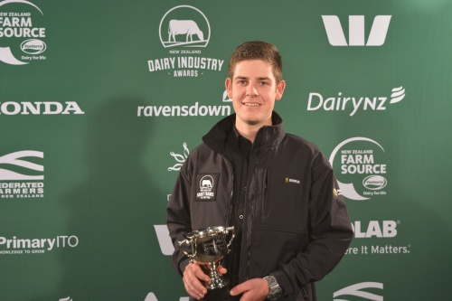 Cental Plateau Dairy Trainee of the Year Taylor Macdonald