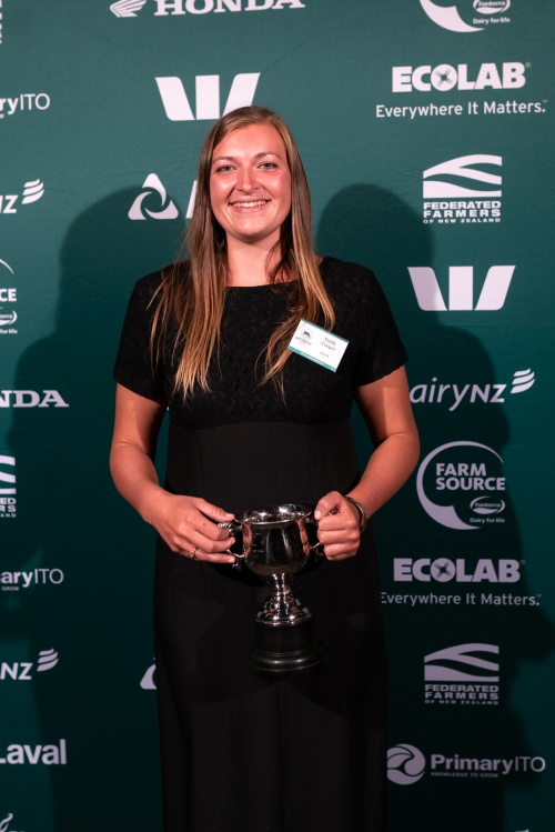 Central Plateau DIA Dairy Trainee of the Year Emily Cooper