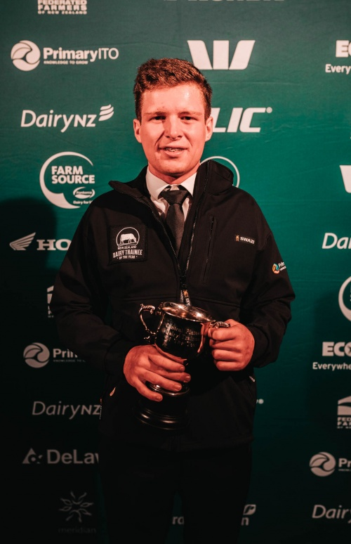 Central Plateau DIA Dairy Trainee of the Year Harry Phipps