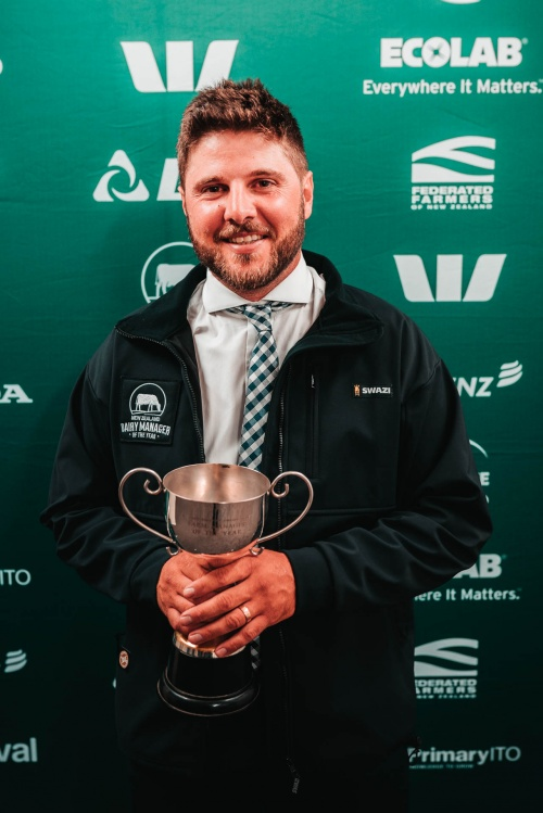 Hawkes Bay Wairarapa DIA Dairy Manager of the Year Nicholas Verhoek