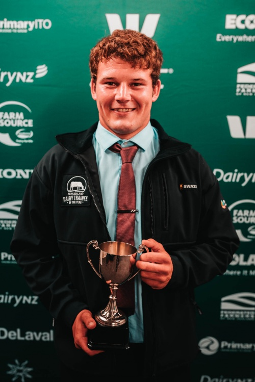 Hawkes Bay Wairarapa DIA Dairy Trainee of the Year Matthew McDougall
