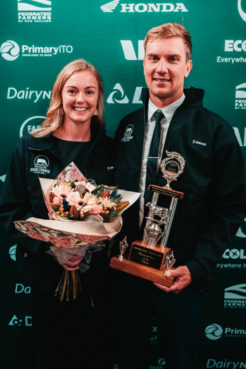 Hawkes Bay Wairarapa DIA Share Farmer of the Year Hamish Hammond and Rachel Gardner