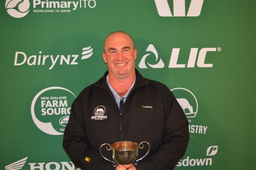 Hawkes Bay Wairarapa Dairy Manager of the Year Kenny Henderson