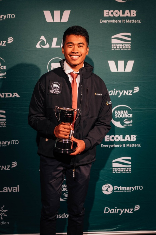 Manawatu DIA Dairy Trainee of the Year Nick Besinga