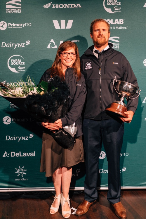 Manawatu DIA Share Farmer of the Year Jemima and Thomas Bebbington
