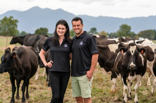 NZDIA National Share Farmer of the year Sarah and Aidan Stevenson