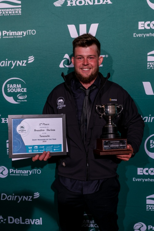 Taranaki DIA Dairy Manager of the Year Branden Darlow
