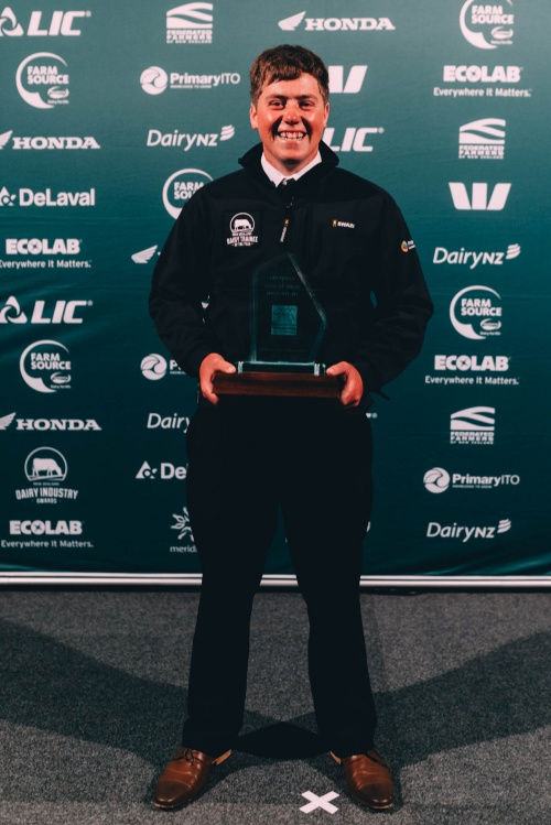Taranaki DIA Dairy Trainee of the Year Marshall Jane