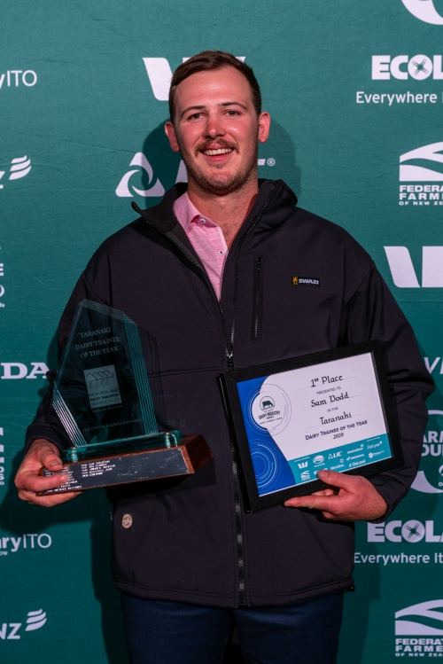 Taranaki DIA Dairy Trainee of the Year Sam Dodd