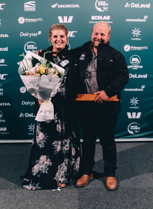 Taranaki DIA Share Farmer of the Year Leah and Jacob Prankerd