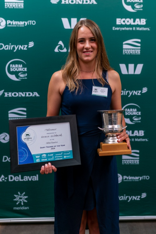 Waikato DIA Dairy Trainee of the Year Grace Gibberd