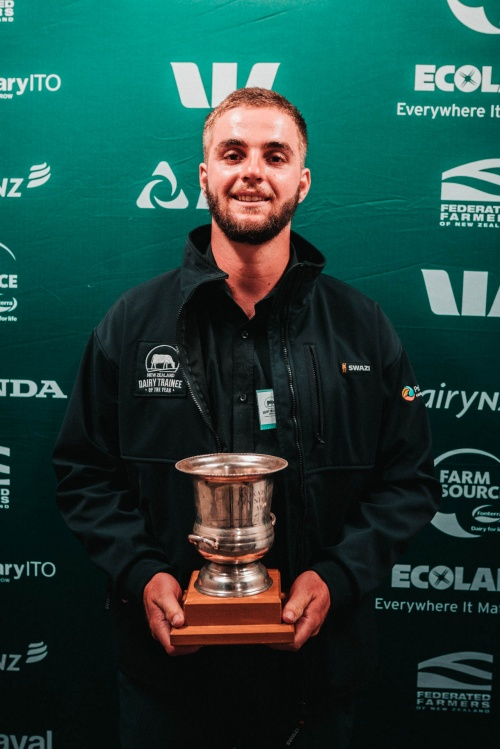 Waikato DIA Dairy Trainee of the Year Matt Dawson