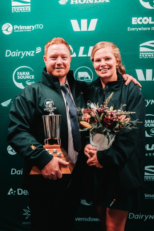 Waikato DIA Share Farmer of the Year Marc and Nia Jones