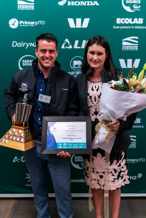 Waikato DIA Share Farmers of the Year Aiden and Sarah Stevenson