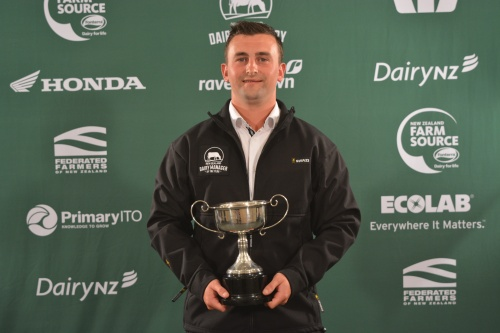 West Coast and Top of the South Dairy Manager of the Year Jack Raharuhi