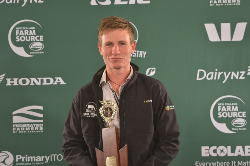 West Coast and Top of South Dairy Trainee of the Year Clay Paton